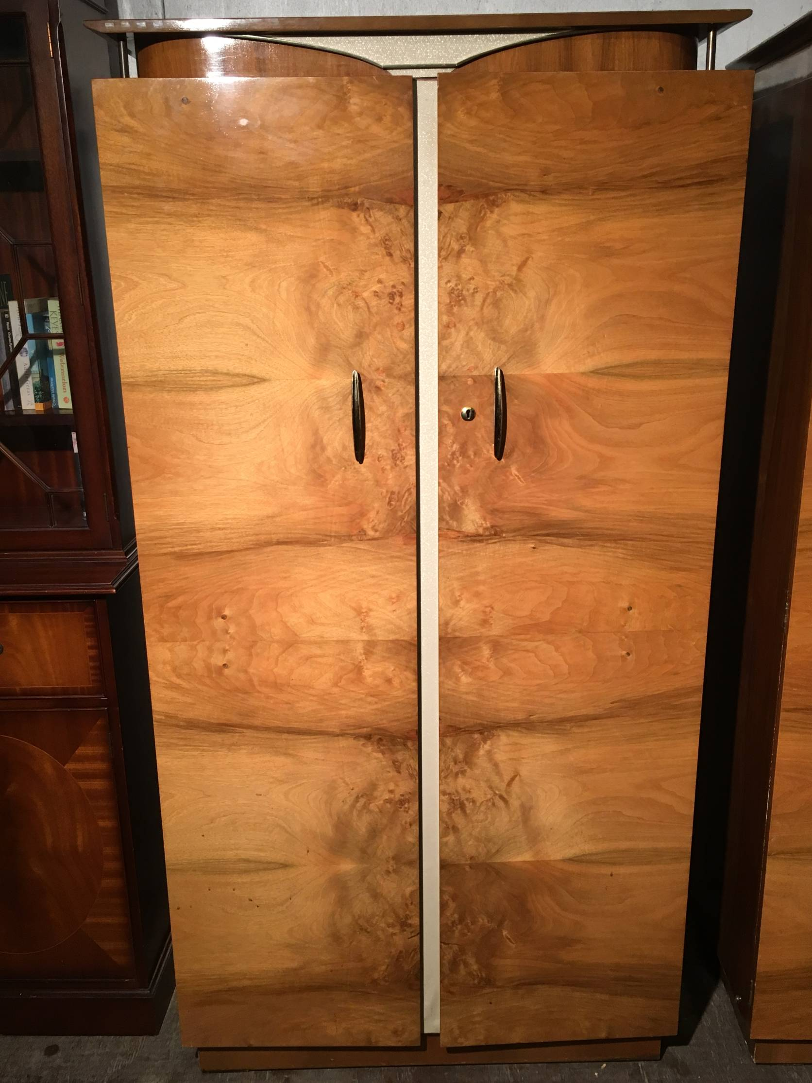 Art Deco Walnut Wardrobe Fitted Bachelor By Beautility € 495