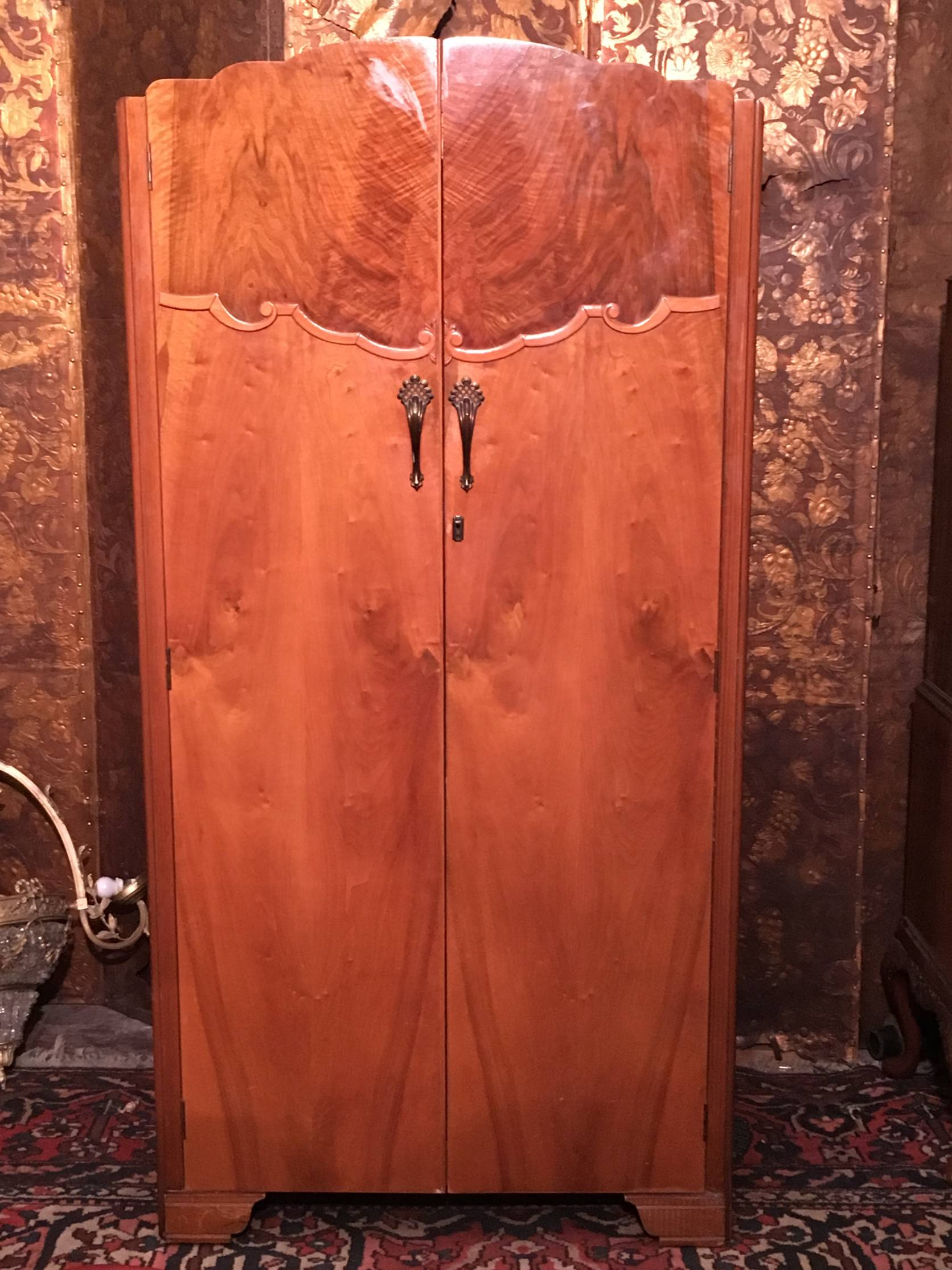 Art Deco Walnut Wardrobe Fitted Bachelor By Lebus €395