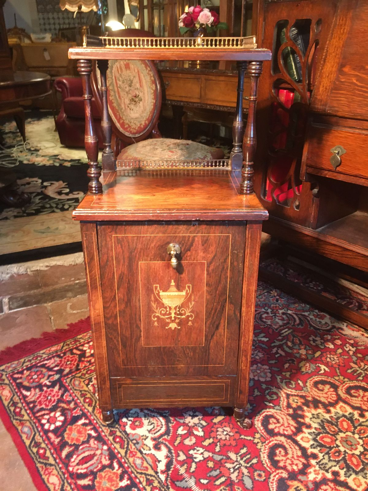 Inlaid Rosewood Coal Cabinet €265